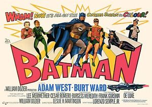 1966 BATMAN movie  staring ADAM WEST & BURT WARD   FILM  A3 PRINTED POSTER