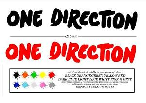 ONE DIRECTION 1D STICKER FOR  WINDOW, LAPTOP, WALL, CAR