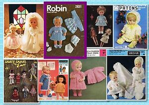 200+ VINTAGE DOLLS/DOLLY Knitting & Crochet PATTERNS ~ Lots to choose from~