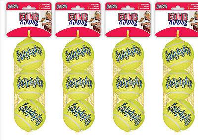 KONG AirDog Squeaker Tennis Ball Standard Regular Size x 12 Medium Bulk Bargain