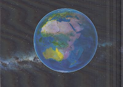 3 -D - Lentikularkarte: die Rotation der Erde - Earth in motion - bewegte Bilder