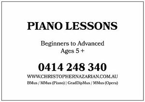 Piano and Voice Lessons for Beginners to Advanced. (Ages 5+ for Piano) Frenchs Forest Warringah Area Preview