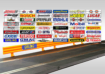 48 Slot Car/Scalextric Crash Barrier Stickers