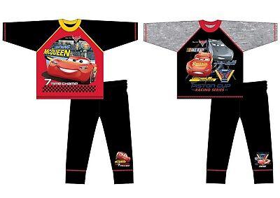 Boys Kids Children Cars Lightning McQueen Long Sleeve Pyjamas pjs Age 4-10 yrs