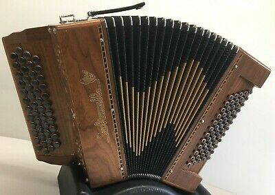 Saltarelle Charville 4 row 2 voice Continental Chromatic Accordion C System USED