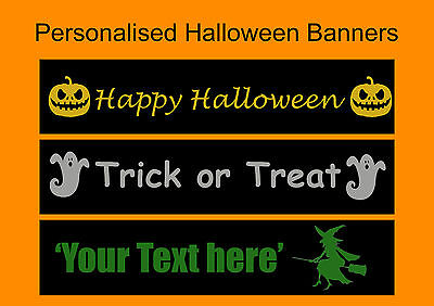 Happy Halloween Banner For Kids Home Room Decoration & Trick or Treat Favours (Halloween Trick Or Treat For Kids)