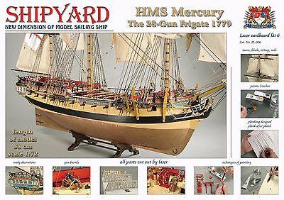 "Beautiful, New model ship kit by Shipyard: the ""HMS Mercury"""