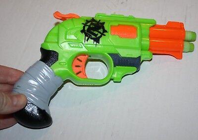 Nerf Zombie Strike Green Orange Pistol Dart Hammer Gun Doublestrike 2013 2 darts