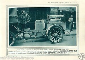 """Motor-Car Coffee-Kitchen Belgium Army / Soca/Isonzo Alps WWI 14 18 PLANCHE 1916 - France - PORT GRATUIT A PARTIR DE 4 OBJETS BUY 4 ITEMS AND WORLDWIDE SHIPPING IS FREE EXCEPT USA, CANADA, AMERICA ONLY TRACKING MAIL PLANCHE 1916 RECTO-VERSO ETAT VOIR PHOTO FORMAT 28 CM X 20 CM SIZE : 11.02"""" X 7.87 inch G.108.89 - France"""