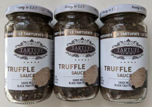 THREE Tartufi Jimmy Truffle Sauce with Back Truffle 6.3 Oz / 180 g Each 10/23