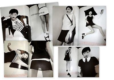 Vtg clippings Vogue Paris 1994 Asian model Jurgen Teller Chanel Ralph Lauren