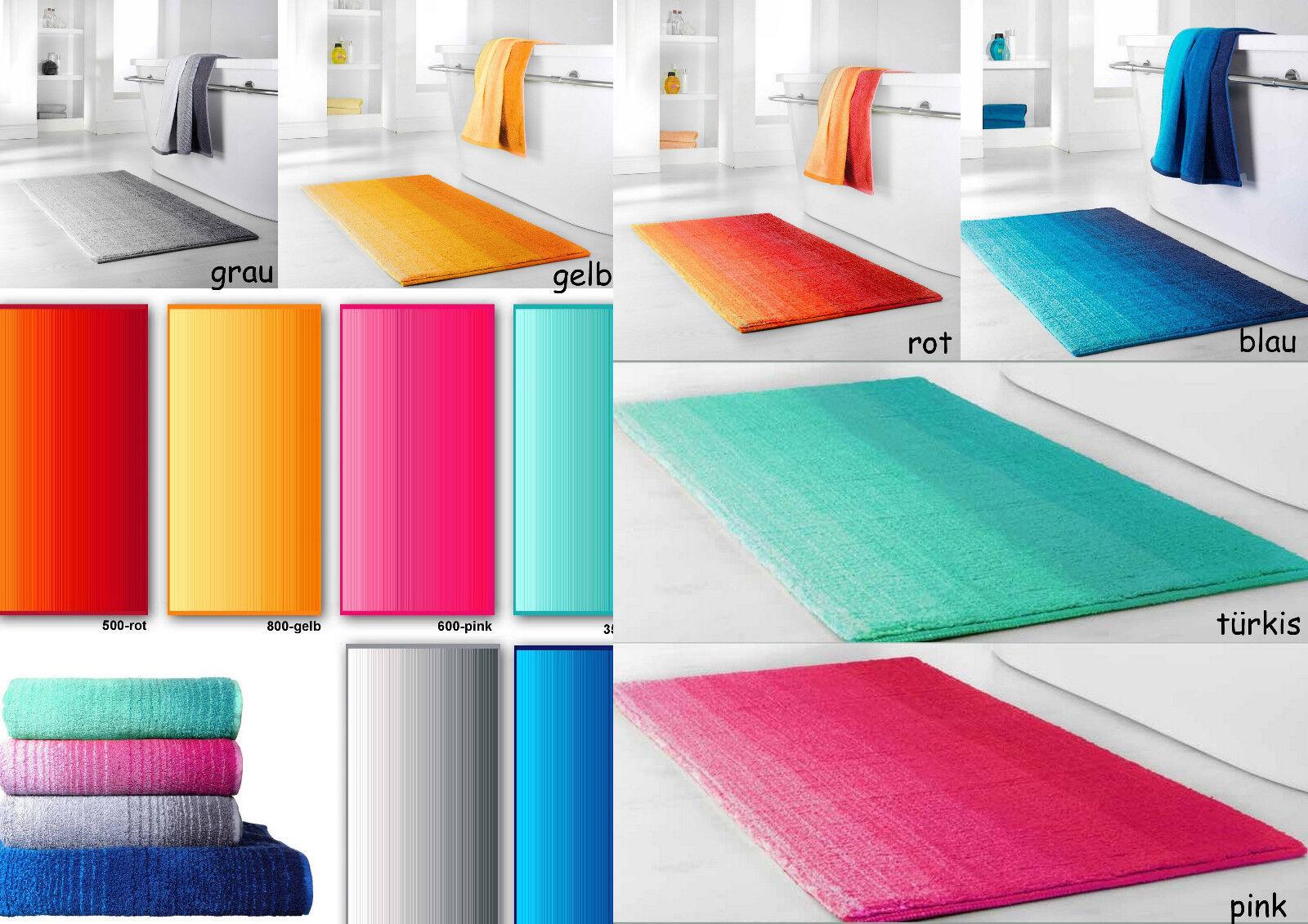 Dyckhoff Colori Badteppich Badvorleger Badematte Handtuch Duschtuch Liegetuch