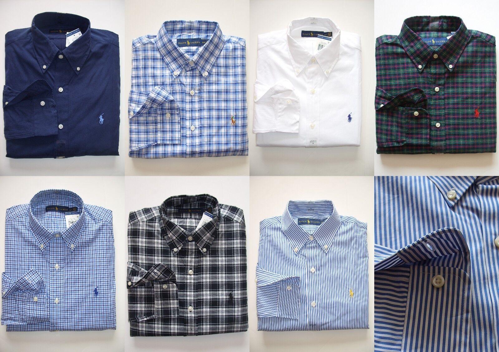 NEW Men Polo Ralph Lauren Button-down Shirt Size S M L XL XXL - STANDARD FIT