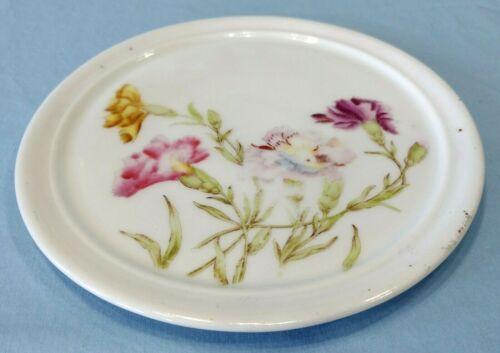 Antique Vintage Porcelain Teapot Trivet Flowers