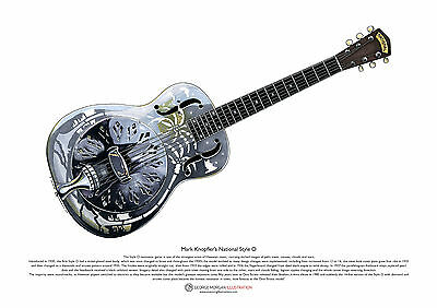 Mark Knopfler's National Style 0 resonator guitar ART POSTER A3 size