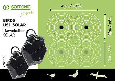 Solar Vogelabwehr Vogelschreck gegen Tauben Vögel Möwen ohne Gewöhnungseffekt