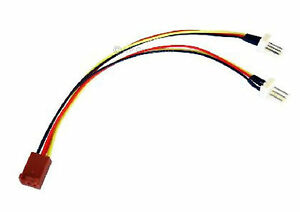 Computer-PC-Case-fan-extension-3-PIN-FAN-POWER-Y-SPLITTER-Cable-Lead-15cm-3Pin
