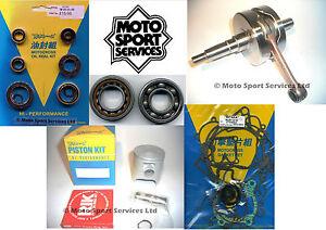 KTM 85 03-12 Mitaka Engine Rebuild Kit Crank Piston B Mains Gasket Seal kit