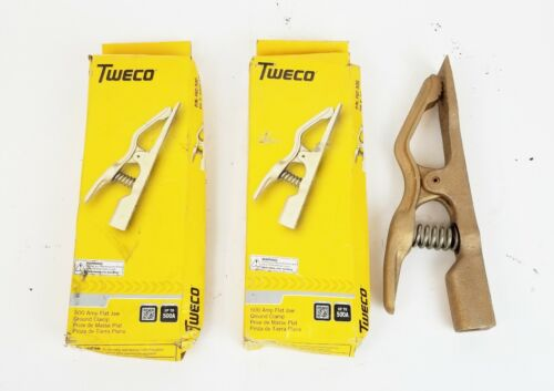 Lot of 3 Tweco FGC-500 Flat Jaw 500 Amp Ground Clamp