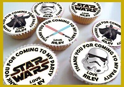 STAR WARS Edible Personalised Cupcake Toppers