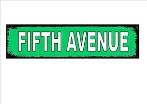 Fifth Avenue New York City USA Street Metal Sign