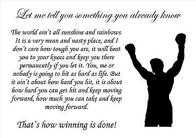 Rocky Boxing Inspirational Motivational Quote Poster Print Picture (30)