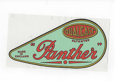 Qualcast Panther Vintage Mower 'Light Green' Chain Cover Repro Decal for sale  Shipping to Ireland