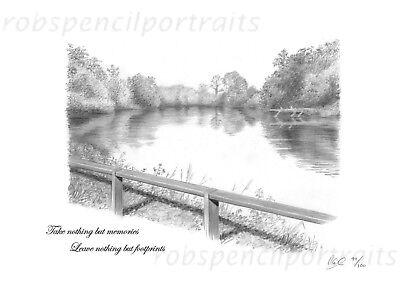 REDMIRE POOL Art Print Picture Present For Carp Angler Fisherman Carp Iconic