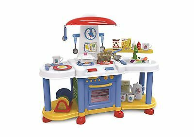 Vinsani Little Kitchen Food Cooking Gas Oven Toy Pretend Play Set - Blue