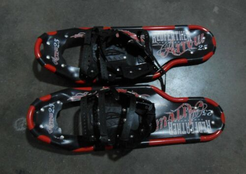 """Redfeather Arrow 25"""" Snowshoes """"USA"""" Summit Binding Red Frame 