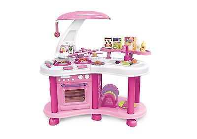 Vinsani Little Kitchen Food Cooking Gas Oven Toy Pretend Play Set - Pink