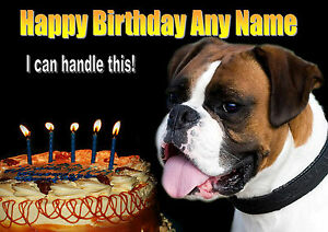 PERSONALISED-BOXER-DOG-BIRTHDAY-CARD-Your-own-text-inside-out-Illus-Insert