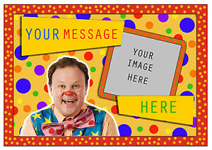 MR TUMBLE / SOMETHING SPECIAL PERSONALISED A4 CAKE TOPPER, EDIBLE ICING SHEET