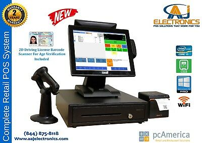 Retail Point Of Sale System -cash Register Express Pos Cre W Id Scanner