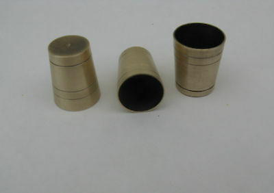 THREE  SOLID BRASS ULTRA  FERRULES SIZES 16 mm 17.5 & 18.5mm FOR WALKING STICKS
