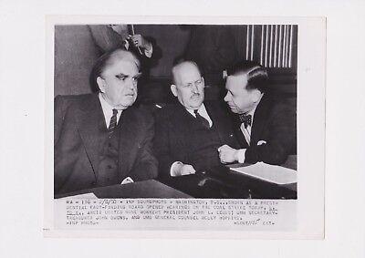 1950 UNITED MINE WORKERS JOHN LEWIS COAL STRIKE GOV HEARINGS PRESS PHOTO