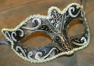 SILVER-BLACK-BRONZE-GOLD-STUNNING-VENETIAN-MASQUERADE-PARTY-EYE-MASK-BNWT
