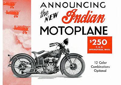 1933 Indian Motoplane 750cc motorcycle poster
