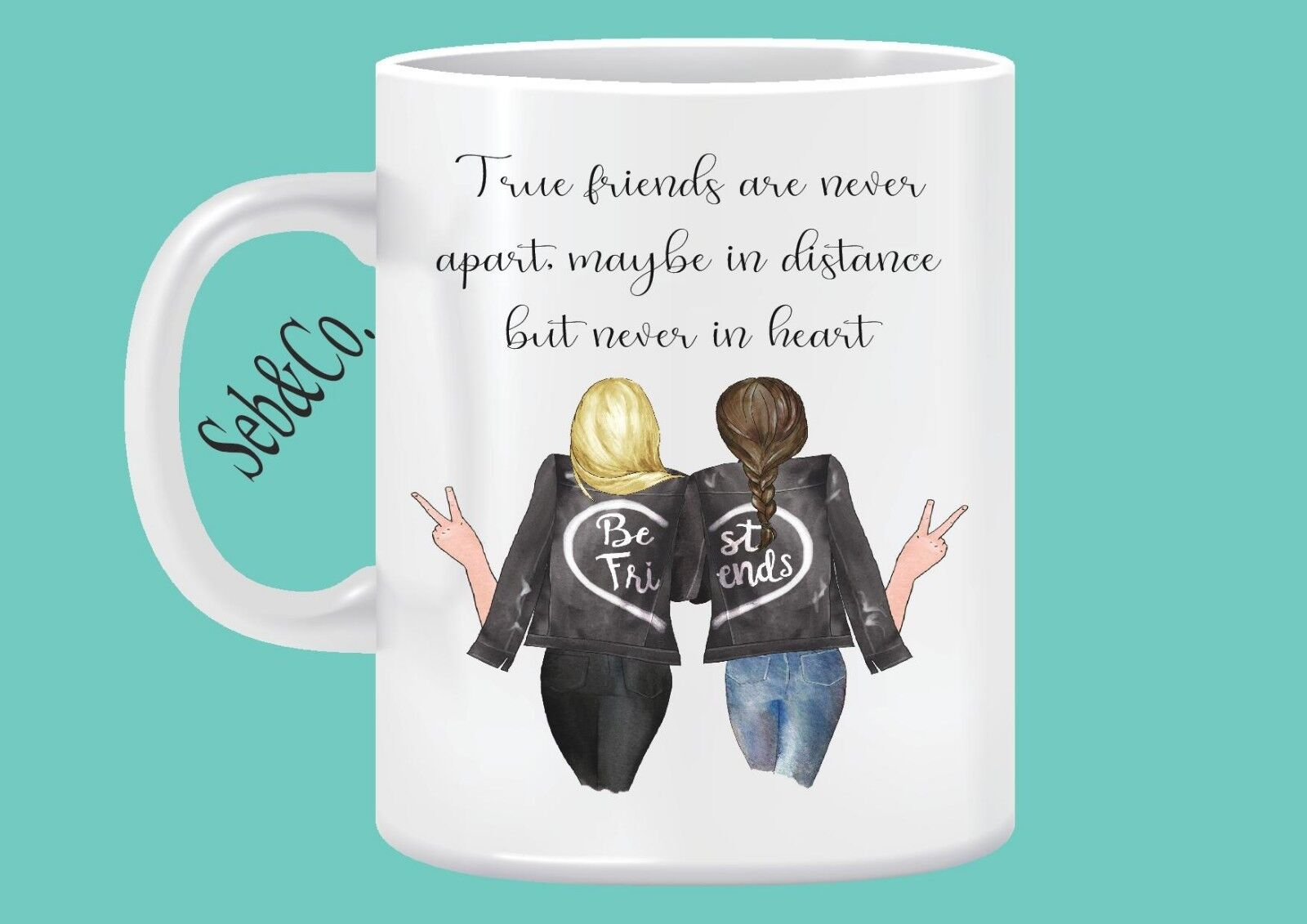Best Friend BFF Friendship Unique Gift Personalised Mug Coff