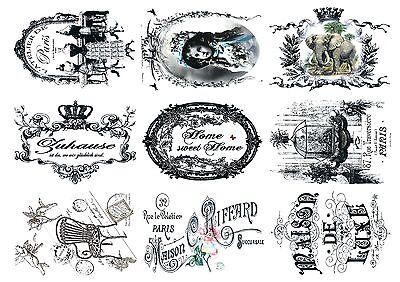 Shabby-9 Motive-Möbel-Garten-Dekoaufkleber- Innen+Außen-Artikel...Nr.: 1744