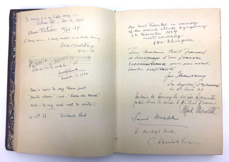 STRAVINSKY, SCHOENBERG, RUBINSTEIN, et al: 1930