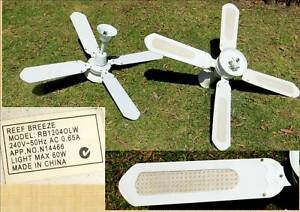 2 X Reef Breeze Ceiling Fans Light 1200mm Diameter Summer Winter Air Conditioning Amp Heating