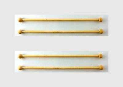 Melody Jane Dolls House 4 Wooden Curtain Rails Rods Poles Accessory 1:12