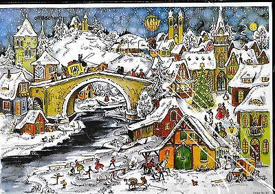"""# SELLMER Adventskalender # Nr. 82 """"Winterliche Stadt"""" , mit GLIMMER"""