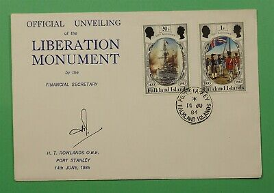 DR WHO 1984 FALKLAND ISLANDS FDC LIBERATION MONUMENT  C241340