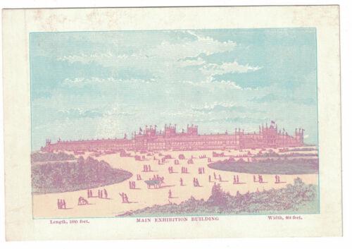 """1876 Centennial Exhibition Card - Main Exhibition Building  5 3/8"""" x 4 3/8"""""""