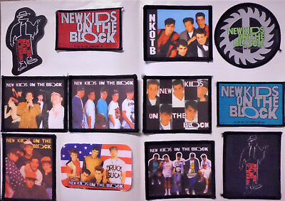 New Kids On The Block, Aufnäher-Set, 12 different Patches, Donnie Wahlberg, Neu!