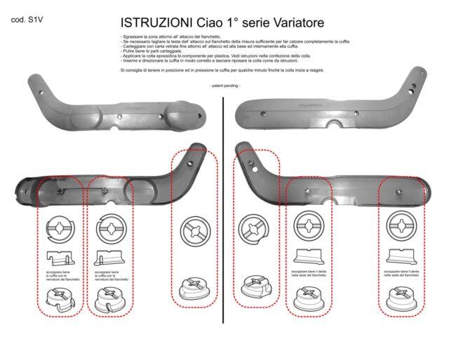 kit riparazione fianchetti NERO Piaggio CIAO I° SERIE CON VARIATORE  cod.S1V