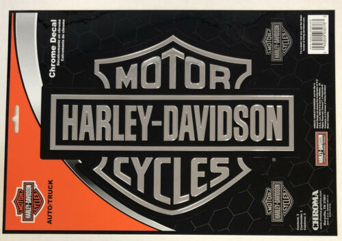 Harley-Davidson Large Bar & Shield Chrome Classic Graphix Sticker Decal NEW