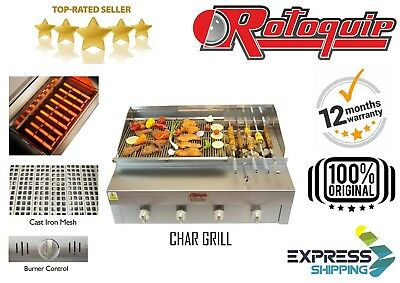 Gas-char Grill ( COMMERCIAL CHARCOAL GRILL + STAND KEBAB GRILL NATURAL / BOTTLE GAS CHAR GRILL)